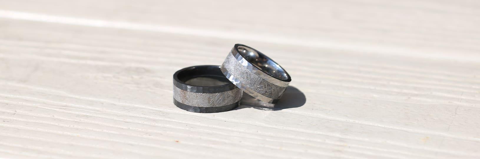 Men's modern wedding rings