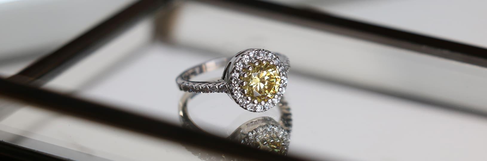 Gemstone right hand ring