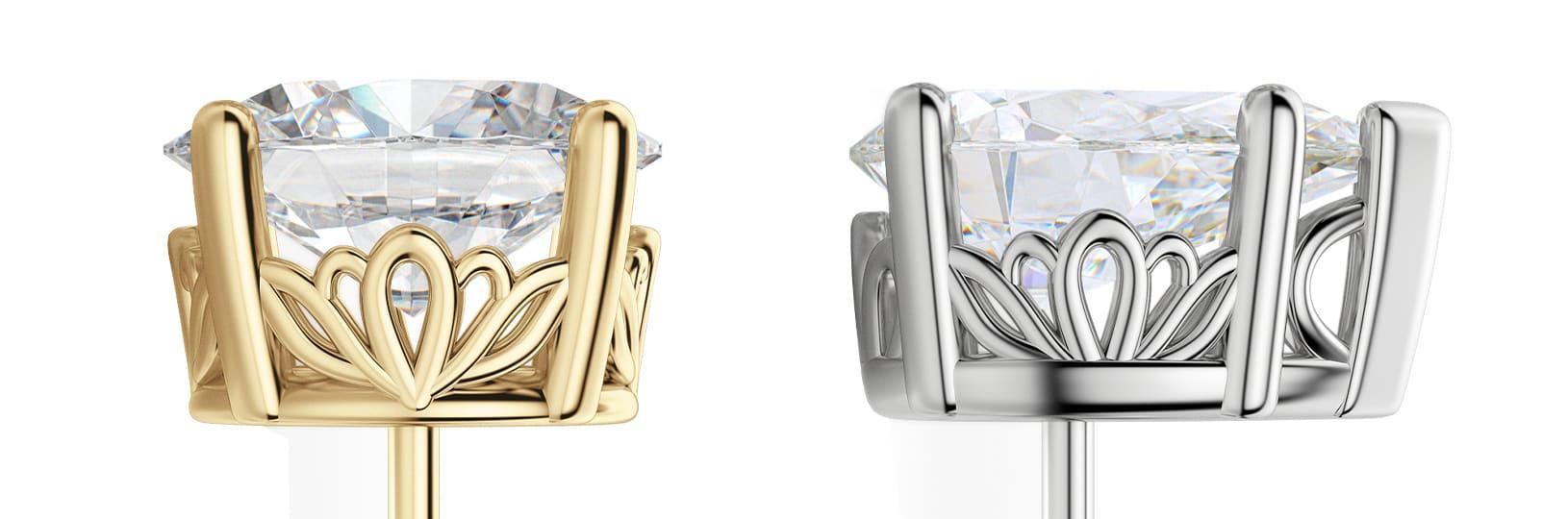 Close-up earring filigree metalwork