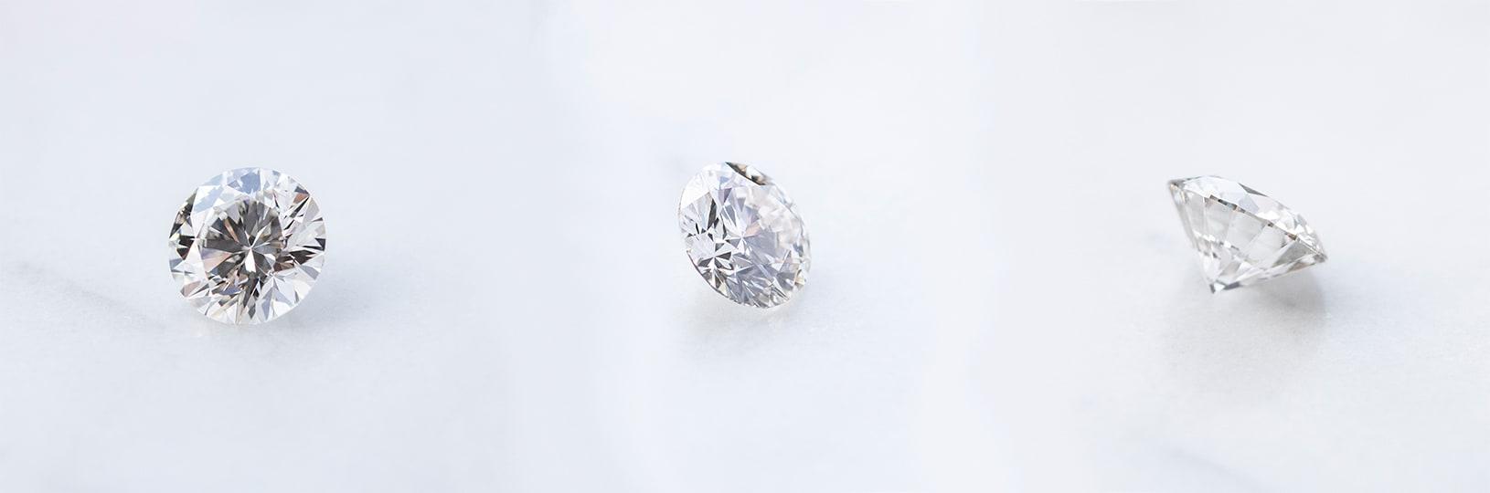 Three Nexus Diamond™ alternative stones
