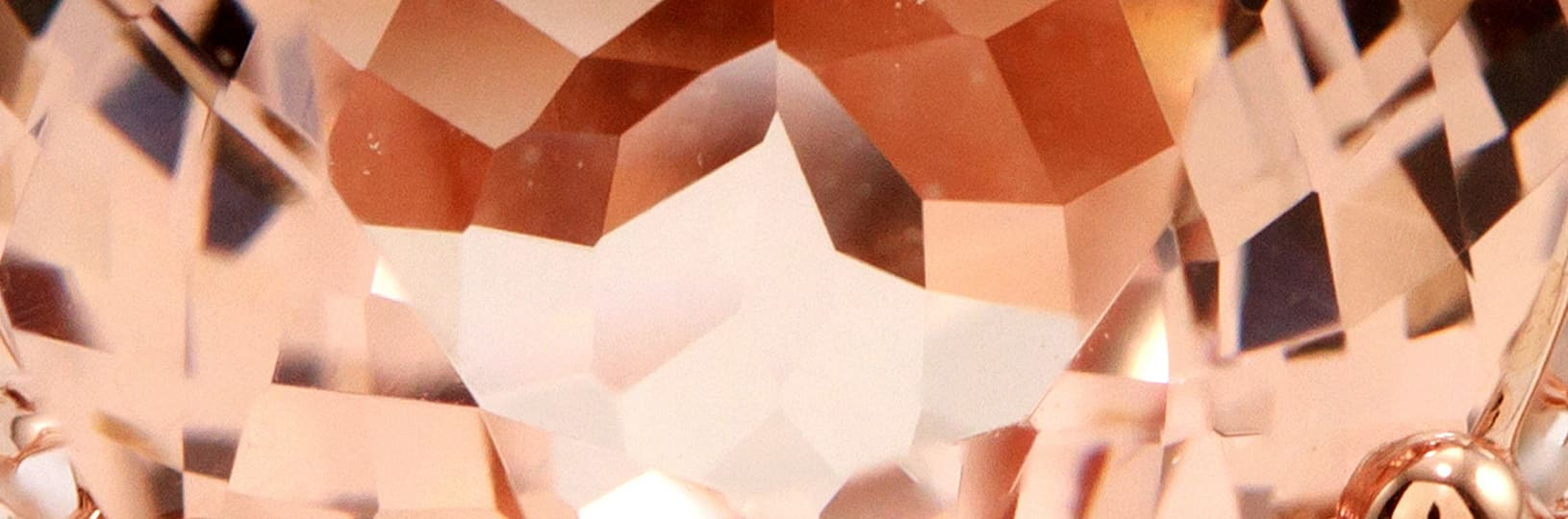 Morganite is beloved for its romantic pink hue