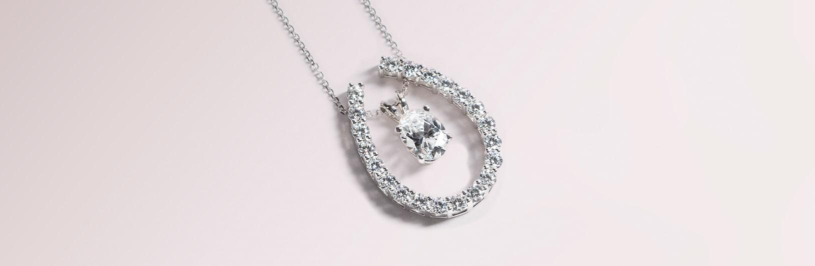 An elegant oval cut pendant