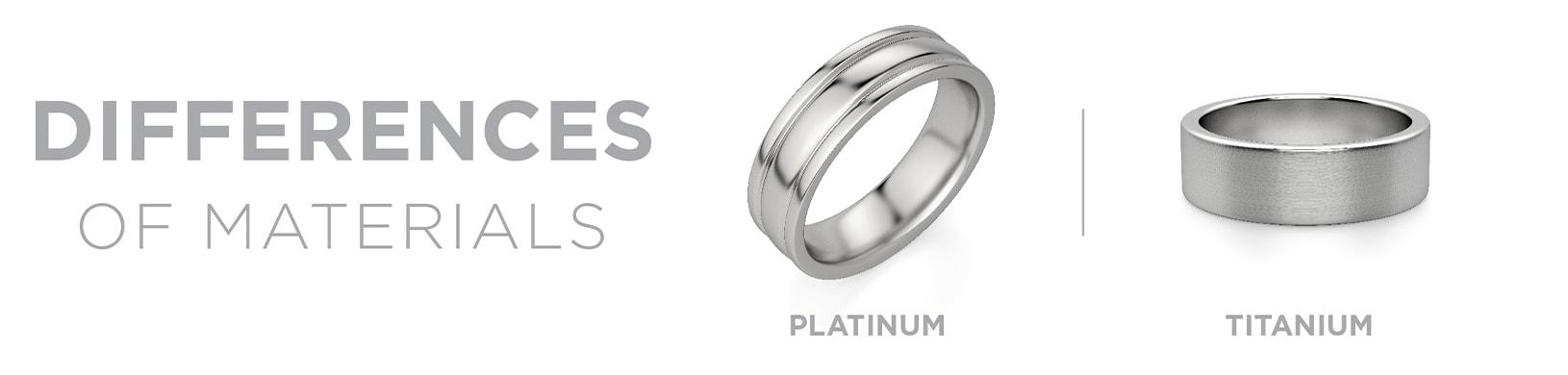 Platinum vs titanium materials