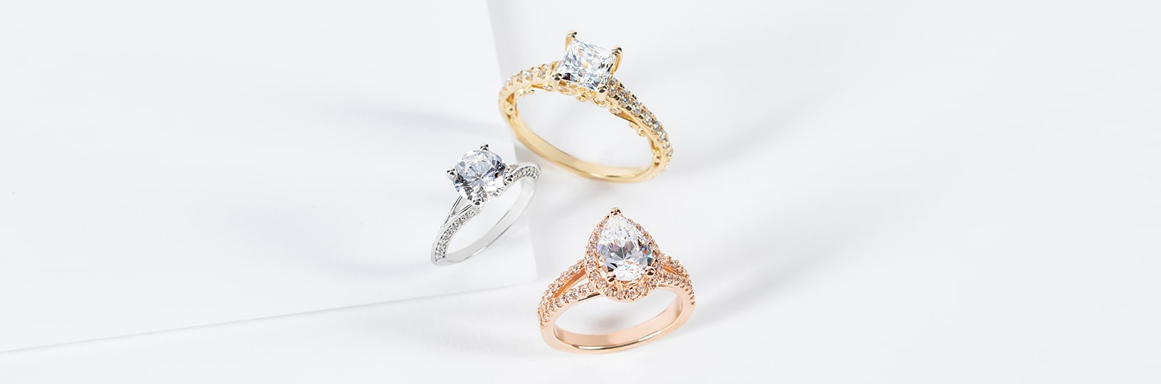 Two vintage engagement rings