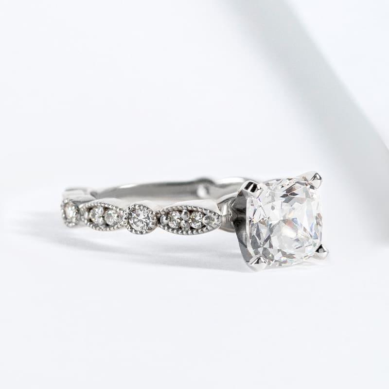 A miligrain engagement ring