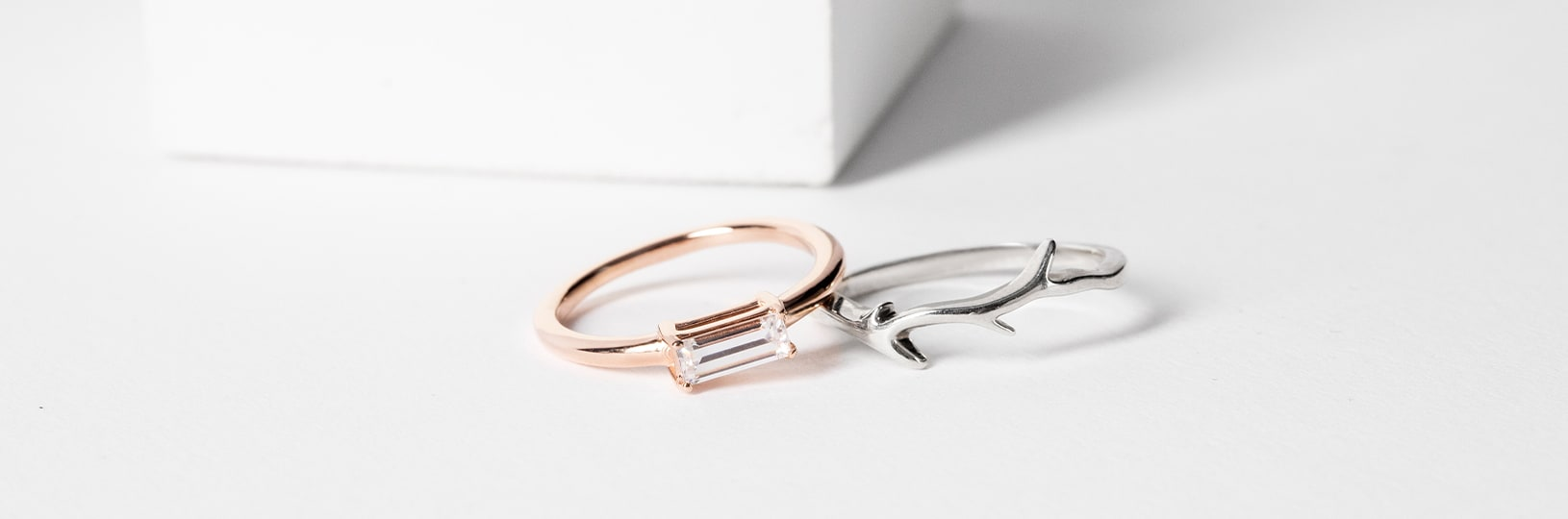 Two dainty rings