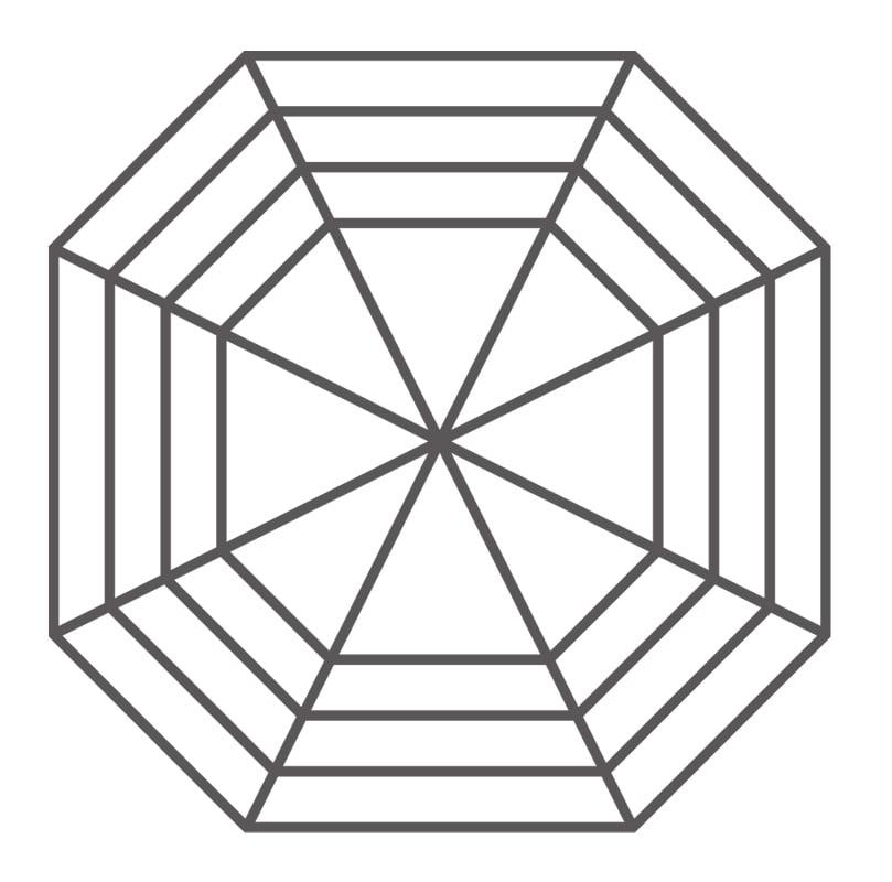Graphic of an Asscher cut diamond
