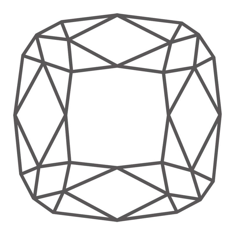 Graphic of a cushion cut diamond