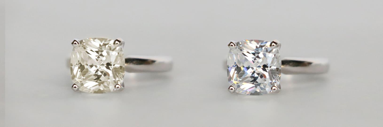Image comparing diamond color
