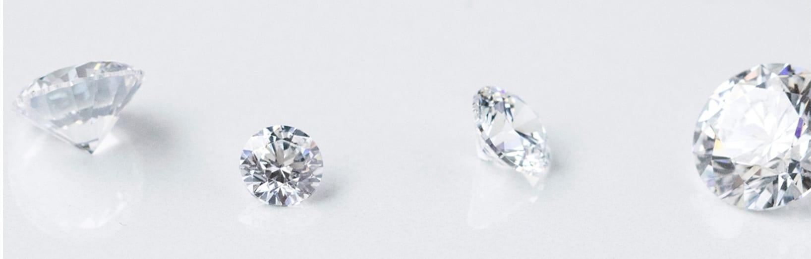 Four loose Nexus Diamond™ alternatives