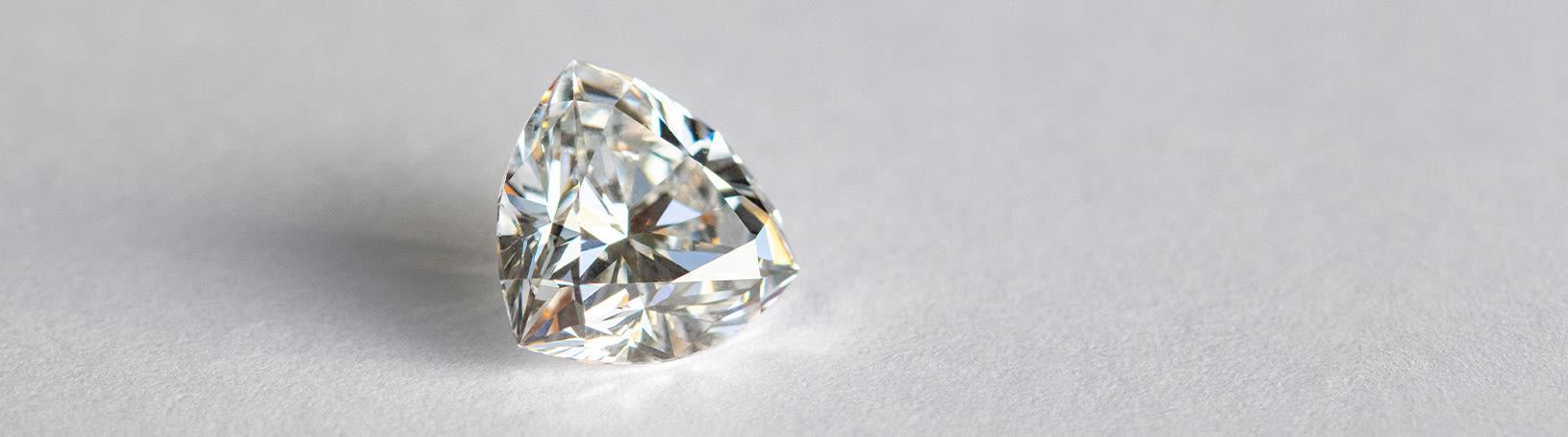 Image of a loose diamond simulant