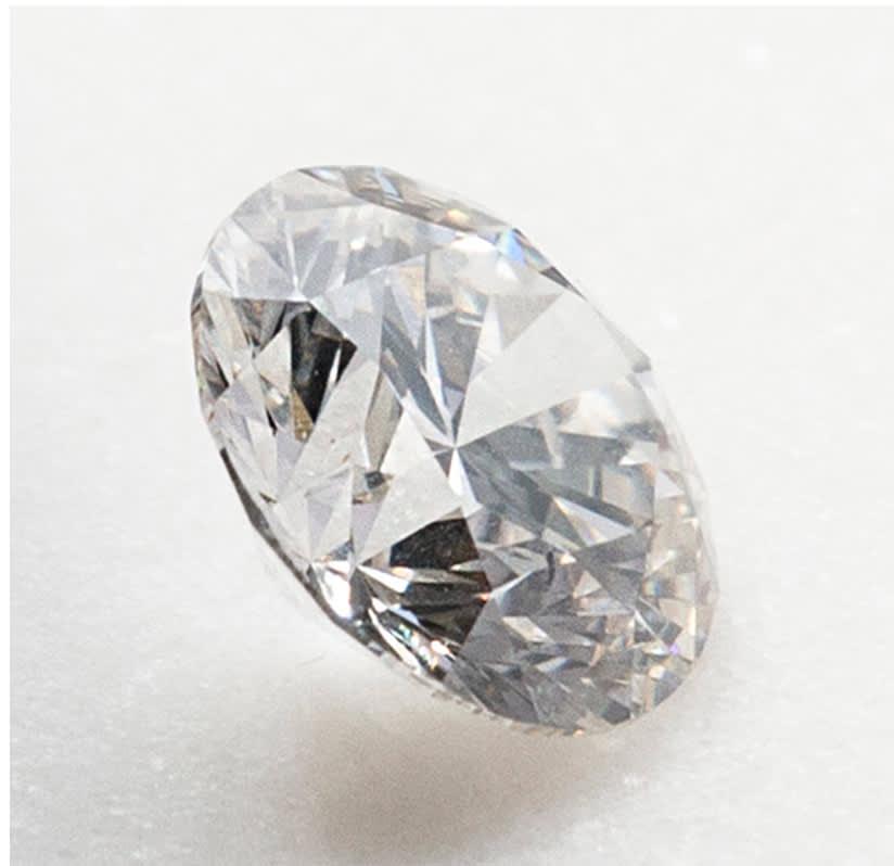Image of a round brilliant cut stone