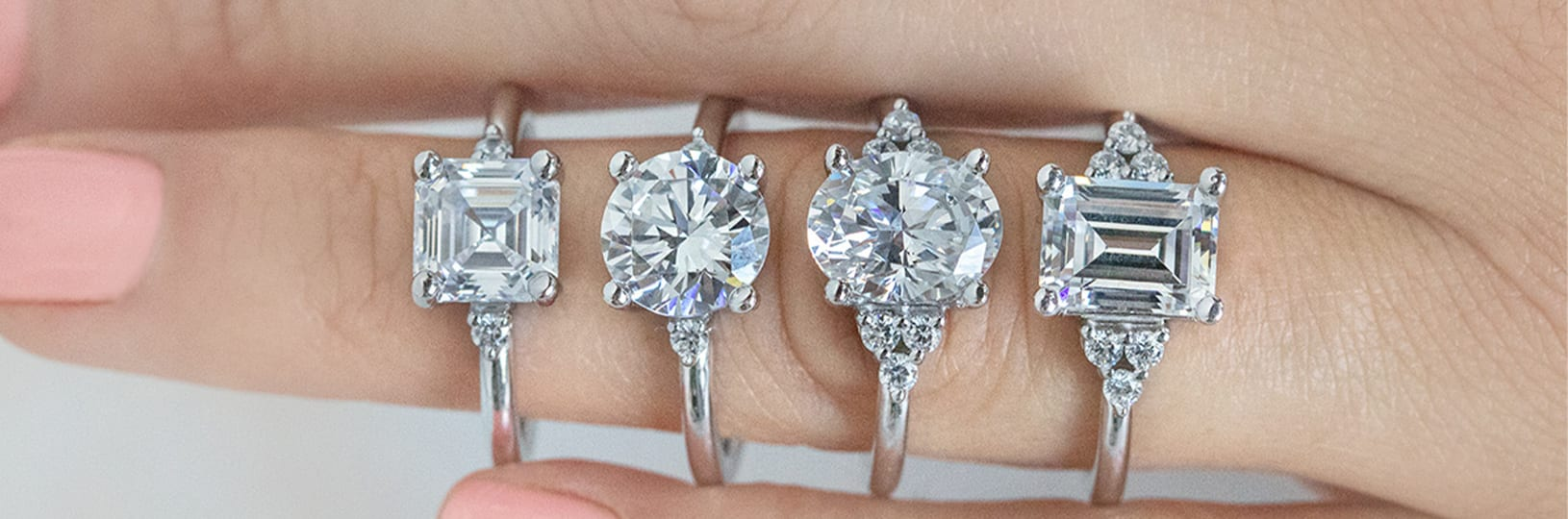 Four different diamond shapes compared side-by-side